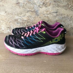Hoka One One Pink & Blue Clifton 2 Running Shoes